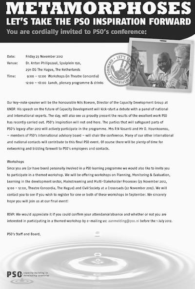 PSO Uitnodiging slotbijeenkomst
