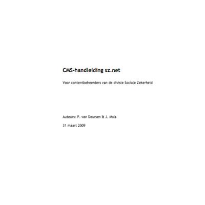 CMS-handleiding sznet